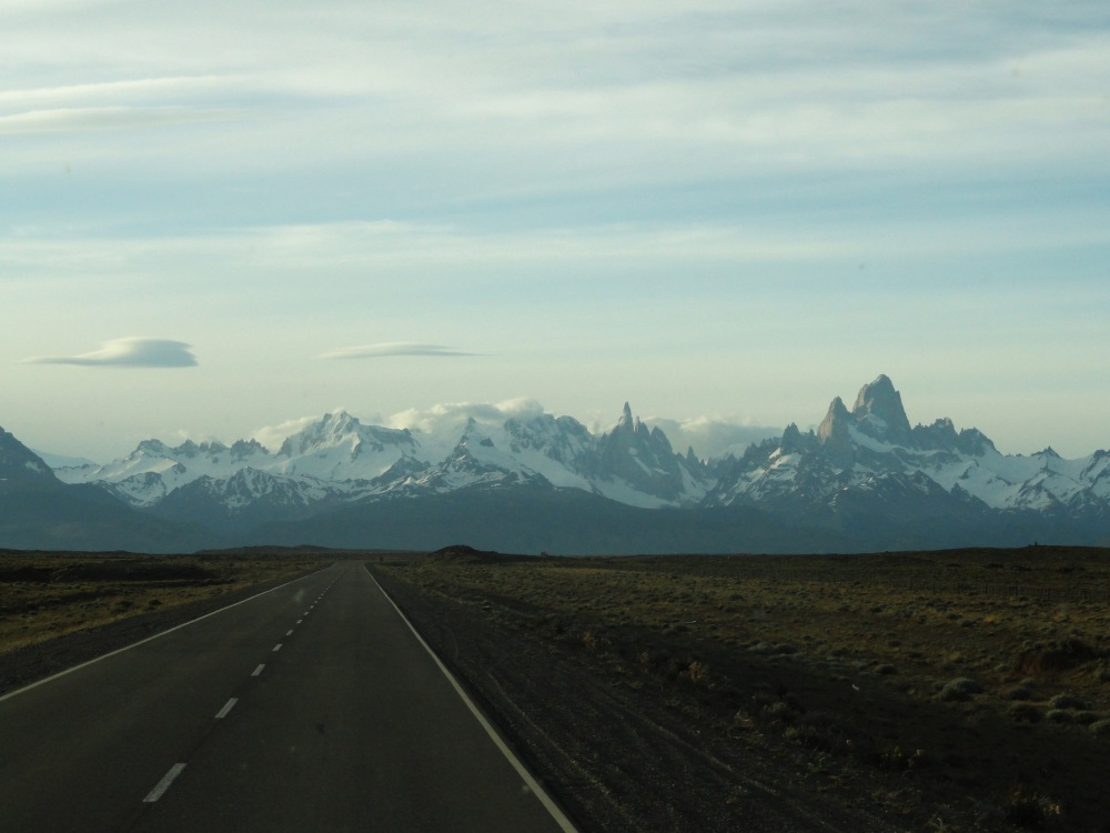 View of Fitz Roy and Cerro Torre from Ruta 23