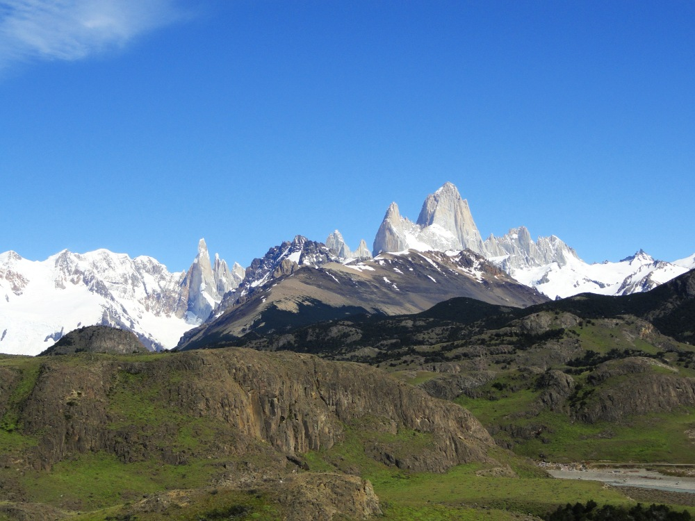 View of Fitz Roy and Cerro Torre El Chalten