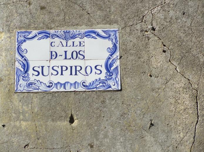 Calle de Los Suspiros Street Sign