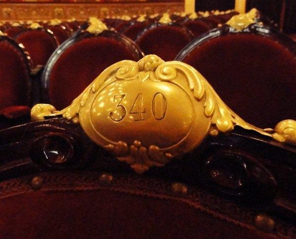 Seat 340 Teatro Colon