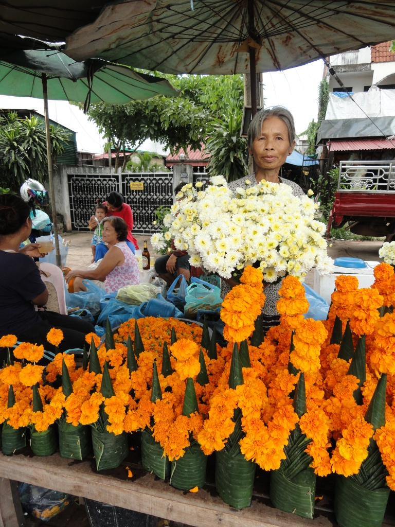 Flower Lady in Vientiane
